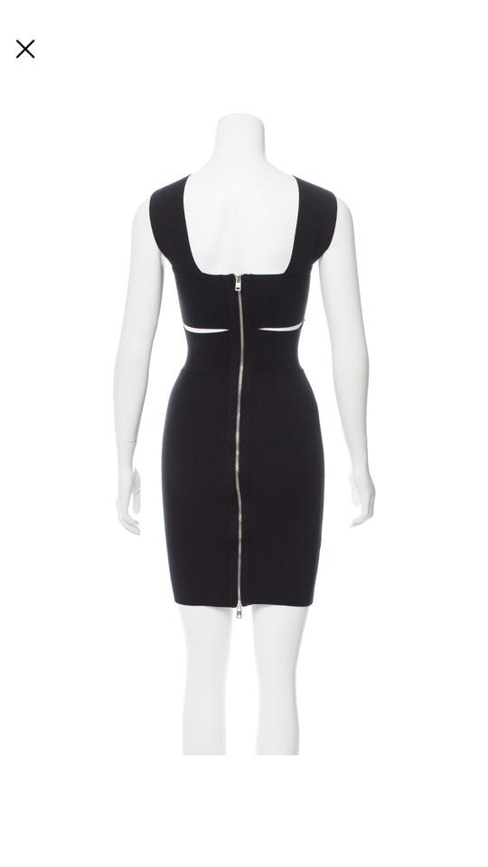 212e85d5434 MCQ by Alexander McQueen Two Tone -white and Black Short Cocktail Dress  Size 0 (XS) - Tradesy