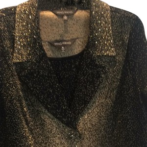 Ming Wang Fancy Top Black with gold glitter