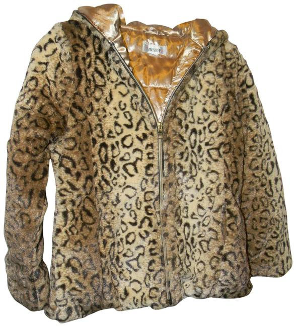 Item - Leopard Tan Faux Fur Coat Size 8 (M)