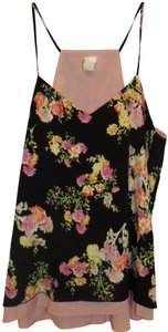 Candie's Flowers Pink Reversible Tanktop Top Black