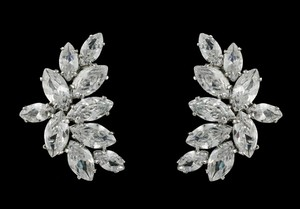 Marquise Cut Cz Bridal Earrings