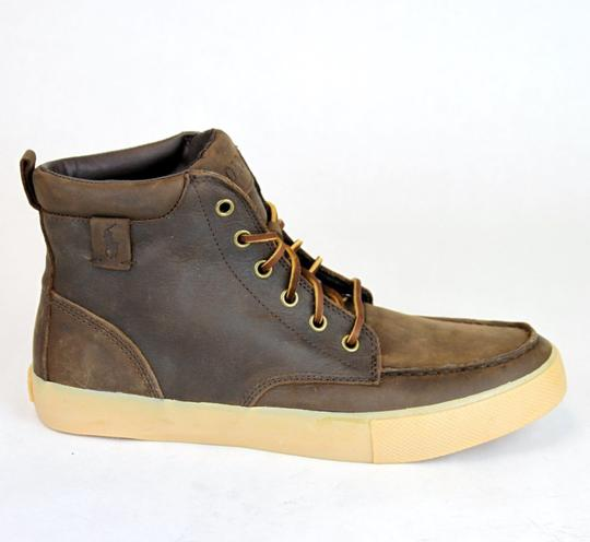 Polo Ralph Lauren Tan/Brown Tedd Leather High Top Sneaker Us 9 Shoes