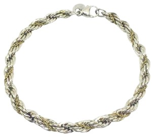 Tiffany & Co. ELEGANT!!! Tiffany & Co. 18 Karat Yellow Gold and Sterling Silver Twist Bracelet