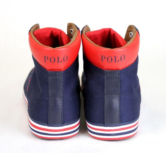 Polo Ralph Lauren Navy/Red Navy/Red Harvey Canvas High Top Sneaker Us 12 Shoes