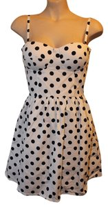Varga short dress White with black polka dots Cute Summer New Pinup Pin Up Doll Fifties Chanel Tory Burch on Tradesy