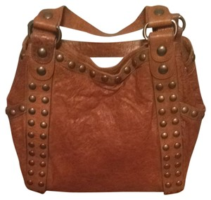 Kooba Ada Brass Studs Shoulder Bag