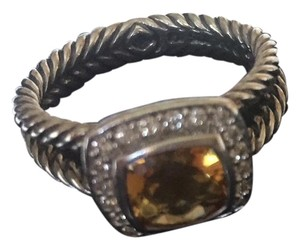 David Yurman David Yurman Petite Albion Ring in Citrine and Diamonds