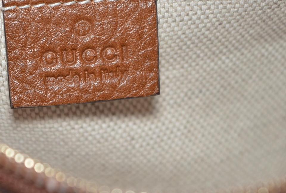 ad5724627198 Gucci Soho Disco New 308364 Textured Gg Purse Brown Leather Cross ...