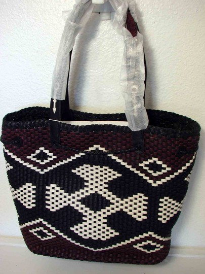 Tory Burch Tote in Black/Brown/Ivory