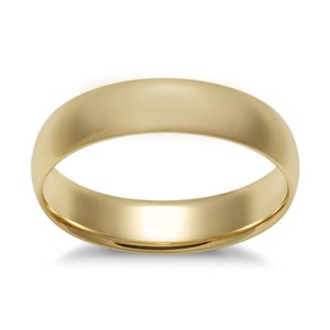 Avital & Co Jewelry Yellow Gold 3.8 Mm Ring 14k Men's Wedding Band