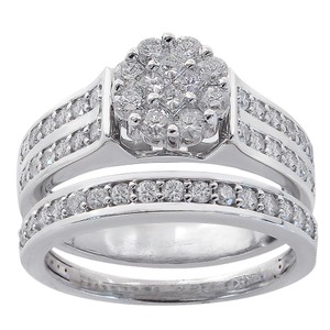 b bands diamond heart womens band size cut ring bn wedding piece silver women engagement set s sterling ebay sets