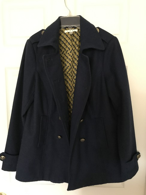 CAbi Peacoat Military Style Yacht Style Pockets Double Breasted Navy Blazer