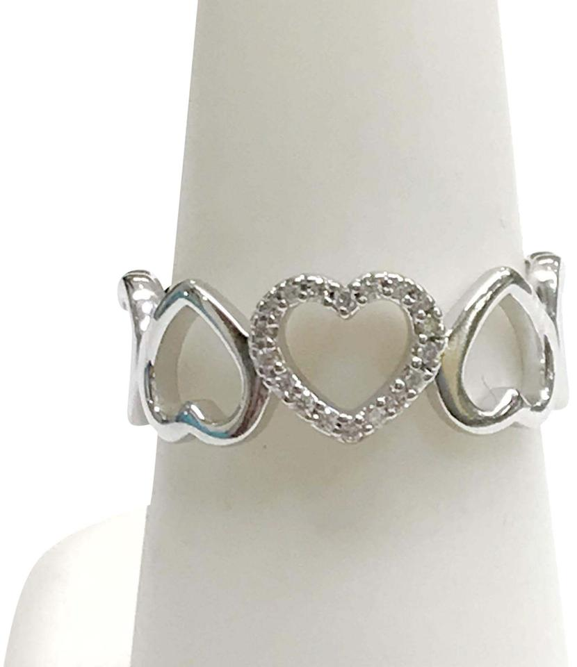 Tiffany Amp Co 18 Karat White Gold Metro Diamond Heart Ring
