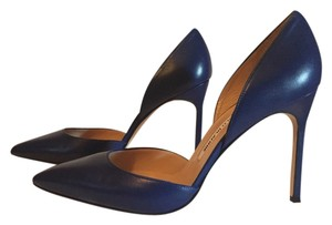 Manolo Blahnik Bb D'orsay Cobalt Blue Pumps