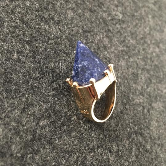 nOir Memphis Cone Ring with Blue Marble Detail