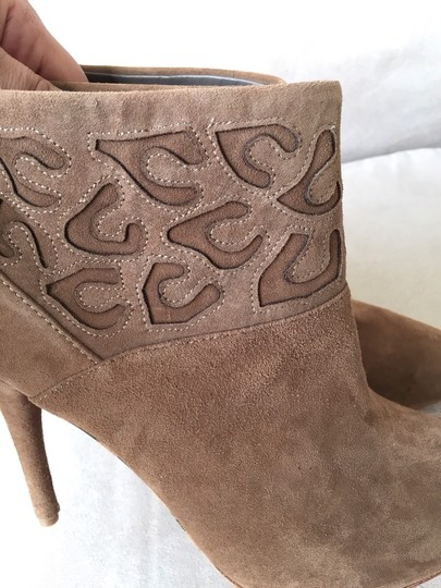 Rebecca Taylor Isabel Marant Studded Bohemian Chloe Lazer Cut Suede Ankle Brown Boots
