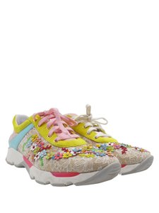 Rene Caovilla Floral Sneakers Embriodered Lace multi color Athletic