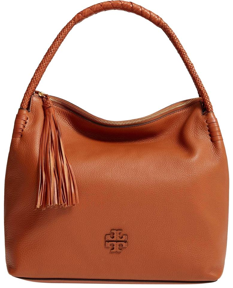 d7c17f6f13aa Tory Burch Taylor Saddle (Brown) Leather Hobo Bag - Tradesy