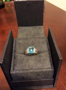 David Yurman David Yurman Petite Wheaton Ring-Hampton Blue Topaz. Gently Used.