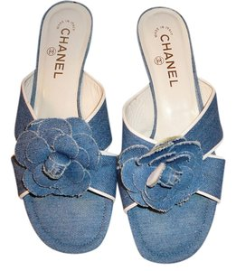 Chanel 39 Gucci 39.5 Blue Flats