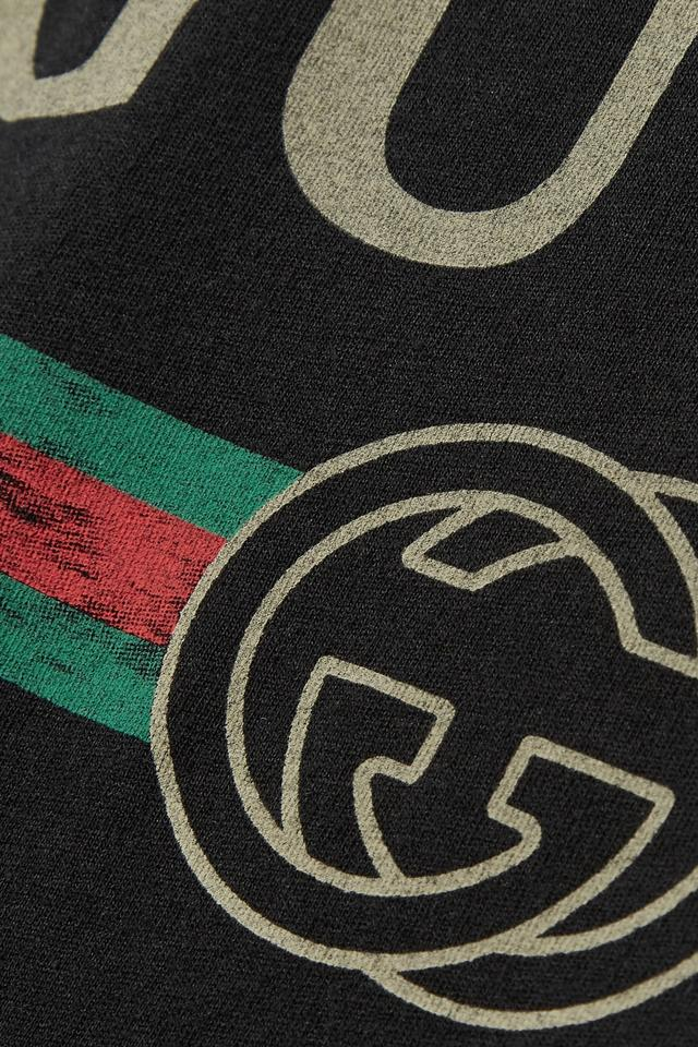 Gucci black logo medium tee shirt size 8 m tradesy for T shirt with embroidered logo