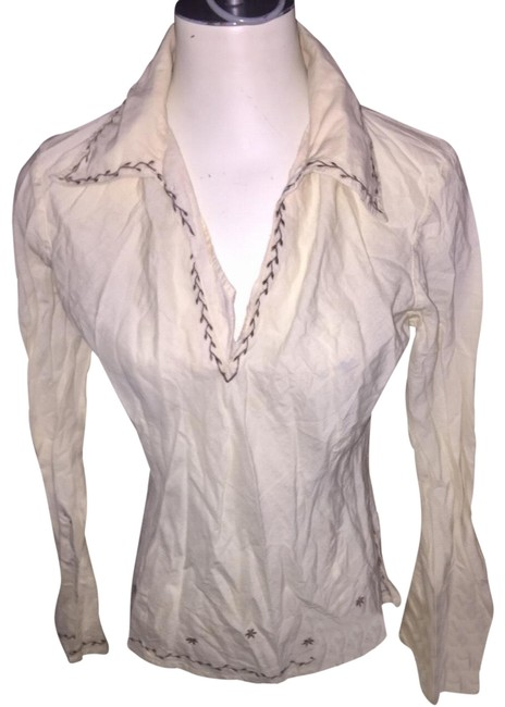 Preload https://img-static.tradesy.com/item/22518008/frenchi-cream-embroidered-blouse-size-12-l-0-1-650-650.jpg