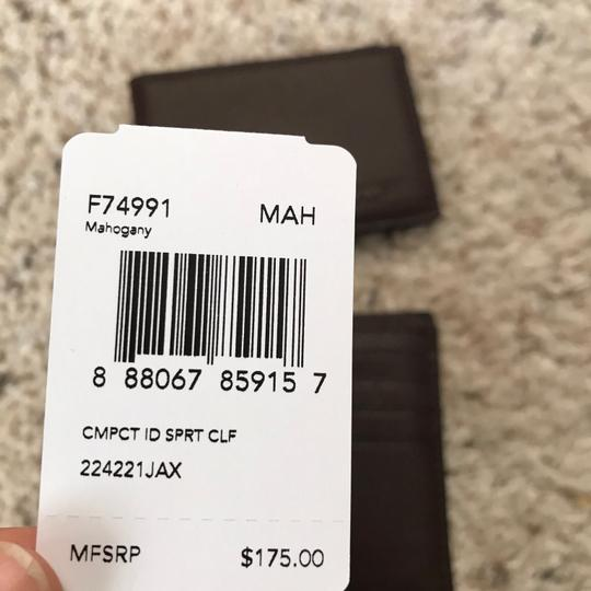 Coach $175 NWT Compact ID Wallet In Sport Calf Leather F74991