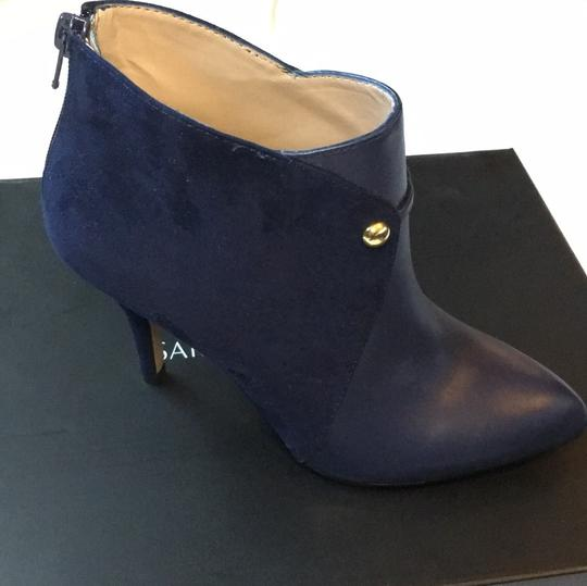 Saks Fifth Avenue Navy Boots