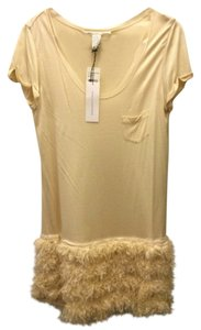 Diane von Furstenberg short dress Ivory Cocktail Dvf Designer Feathers Summer on Tradesy