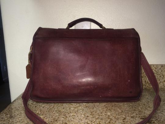 Coach Maroon Messenger Bag
