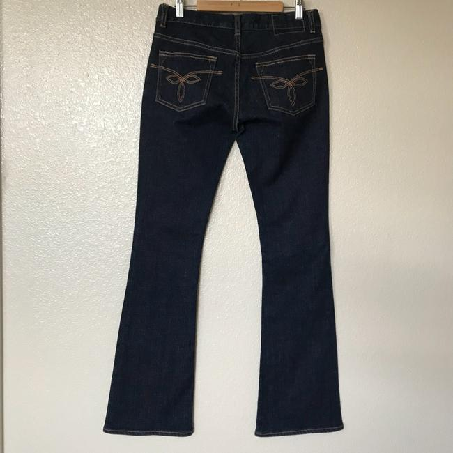 Ted Baker Boho Classic Cotton Boot Cut Jeans-Dark Rinse