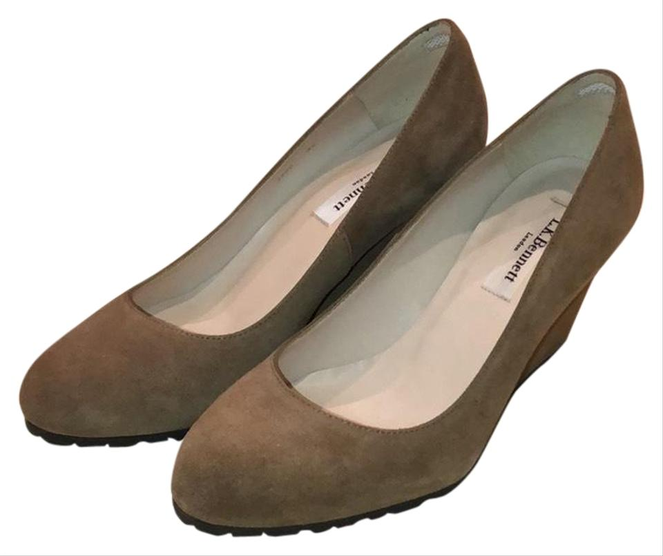 L.K. Bennett Taupe/Tan Nwot Suede Wedge /Beige Pumps Size US 6 Regular (M, B)