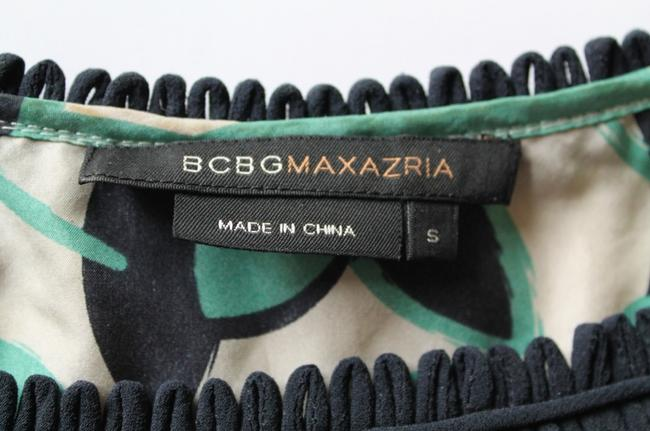 BCBGMAXAZRIA Bcbg Max Azria Printed Top Blue,Green&Cream