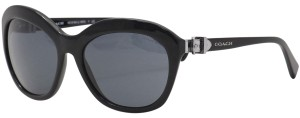 Coach Coach HC 8184 500287 Cat Eye Black Sunglasses Grey Lenses 57-18-135