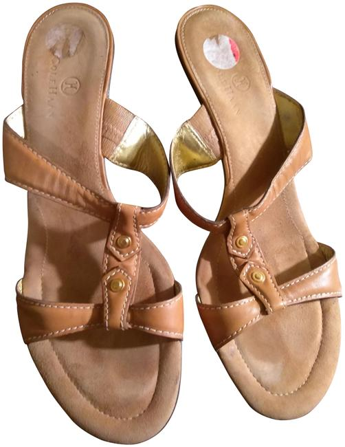 Item - Tan Strappy Leather Mules/Slides Size US 10 Regular (M, B)