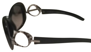 Emilio Pucci Pucci Black Sunglasses with B/W Geometric Print at Temples