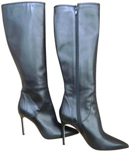 Manolo Blahnik Leather Tall black Boots
