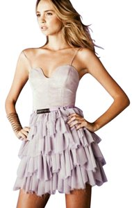 Bless'ed are the Meek Nasty Gal Kuku Revolve Shopbop Cocktail Prom Formal Party Tutu Corset Sweetheart Strapless Ruffle Tier Lavender Dress