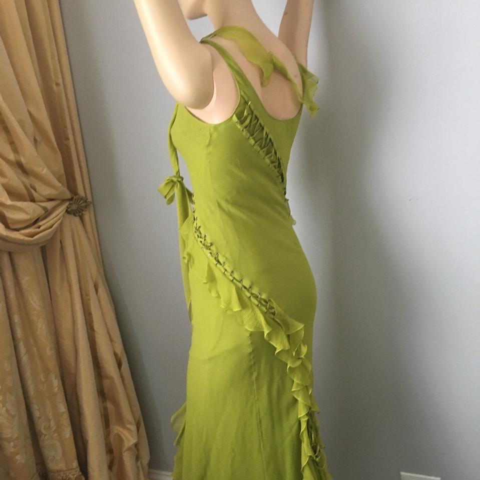 Dior Green Fancy Mid-length Cocktail Dress Size 4 (S) - Tradesy