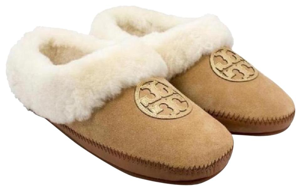 Tory Burch Suede Royal Tan Coley Slipper-split Suede Burch Flats be933c