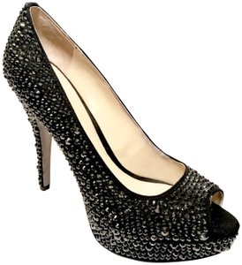 Enzo Angiolini Strass Bling Heels Christian Louboutin Very Riche Black Pumps