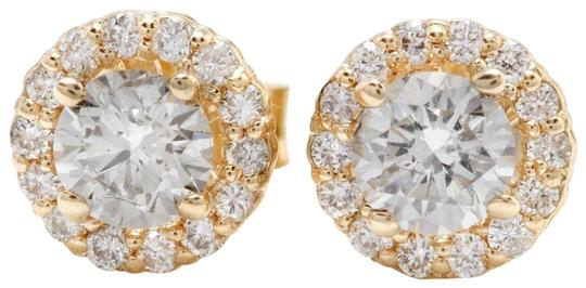 Other .95Ct Natural Diamond 14k Solid Yellow Gold Earrings
