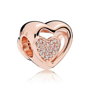 PANDORA Joined Together Charm, PANDORA Rose™ & Clear CZ