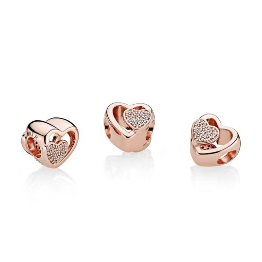 PANDORA Joined Together Charm, PANDORA Rose & Clear CZ