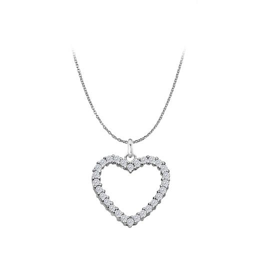 Preload https://img-static.tradesy.com/item/22519529/white-silver-sterling-floating-heart-cubic-zirconia-pendant-075-ct-necklace-0-0-540-540.jpg