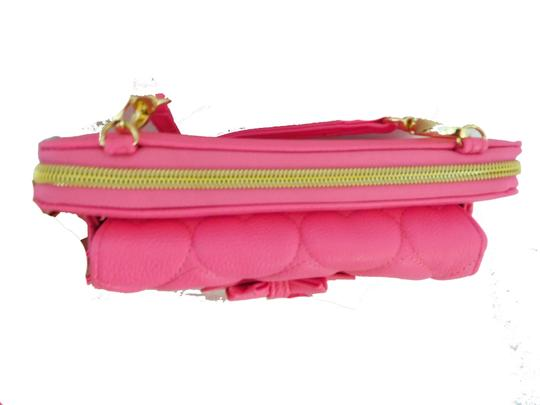 Betsey Johnson Zip around /Pink / front cell phone pocket /pink wallet/