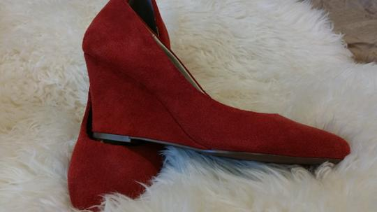 Express Suede Orange Wedges