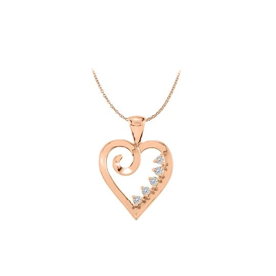 Preload https://img-static.tradesy.com/item/22519971/white-rose-14k-gold-vermeil-5-stone-cz-family-heart-pendant-necklace-0-0-540-540.jpg