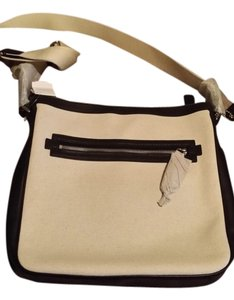 Coach Natural and black Messenger Bag