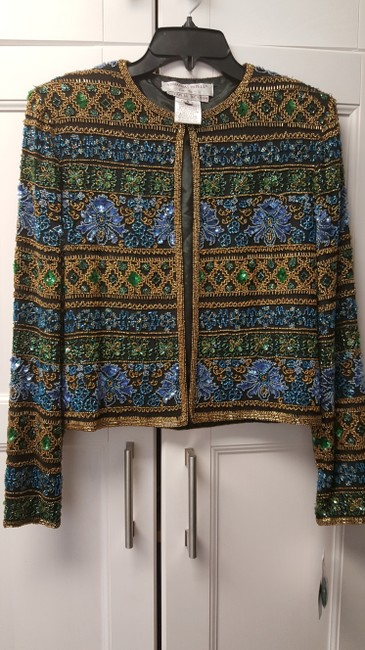 Adrianna Papell blue/green/gold Jacket